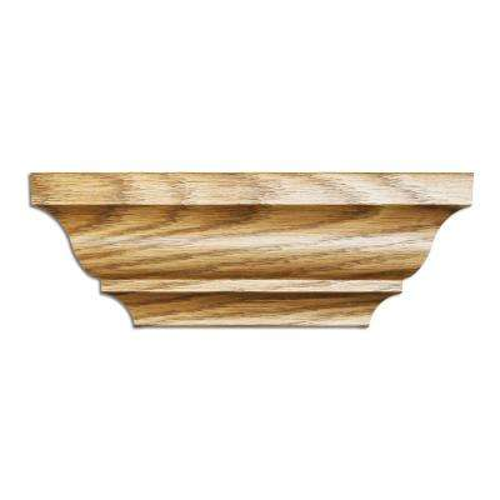 1/2 in. x 3-3/16 in. x 96 in. Polystyrene Ultra Oak Crown Moulding (5-Pack)