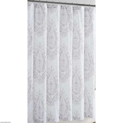 72 in. x 72 in. Paisley Blossom Shower Curtain