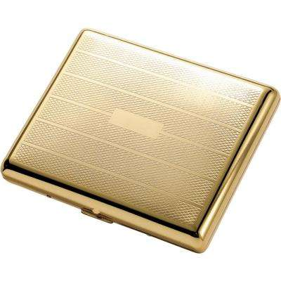 Pierre Polished Gold Cigarette Case (Holds 20-100s Cigarettes)