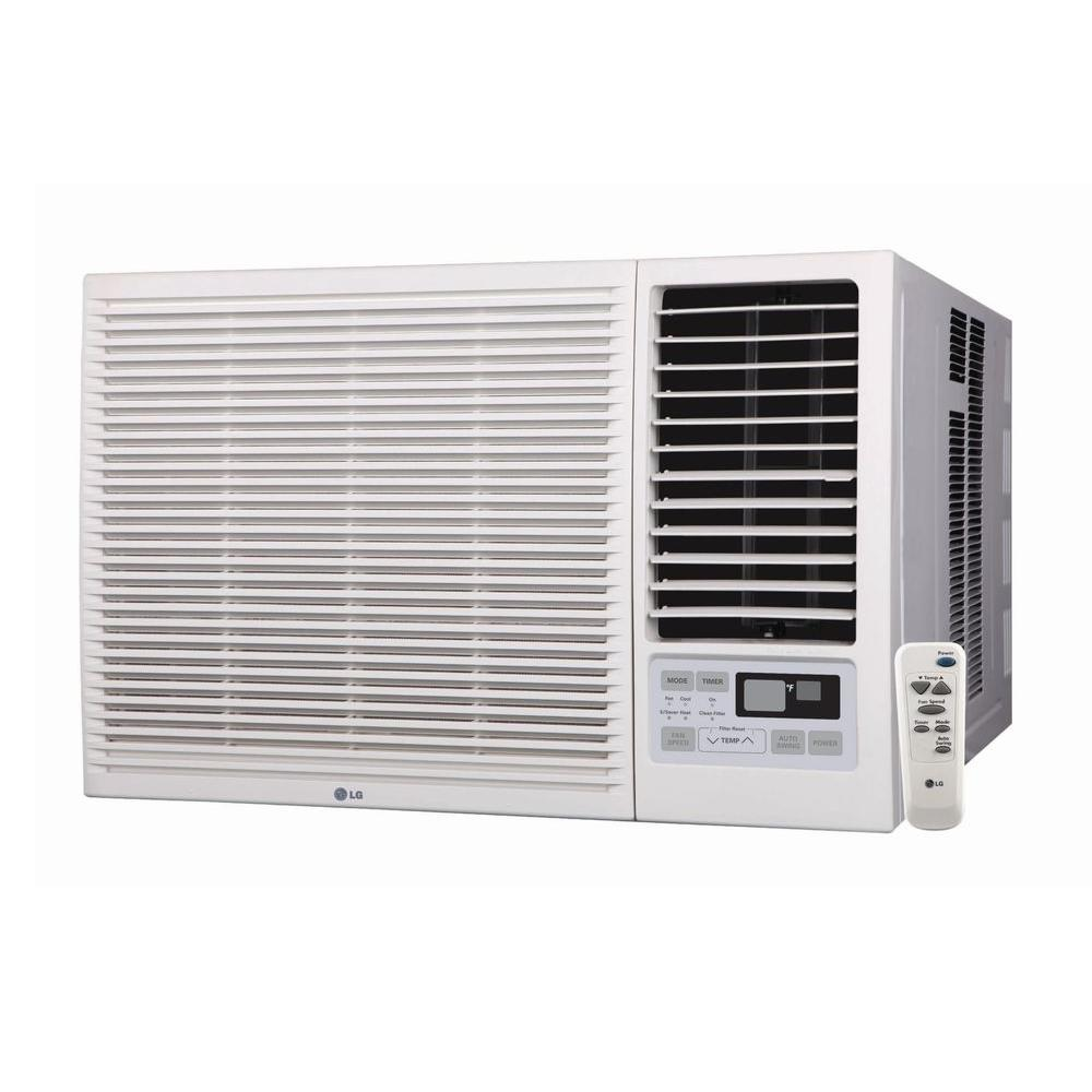 LG Electronics 18,000 BTU Window Air Conditioner with Cool, Heat and Remote