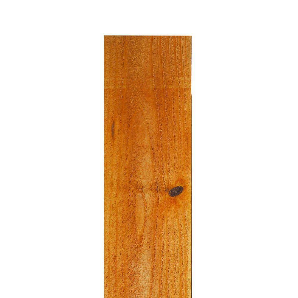 Installed Western Red Cedar Flat Top Picket Fence