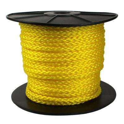 1/2 in. x 250 ft. Hollow Braid Rope, Yellow