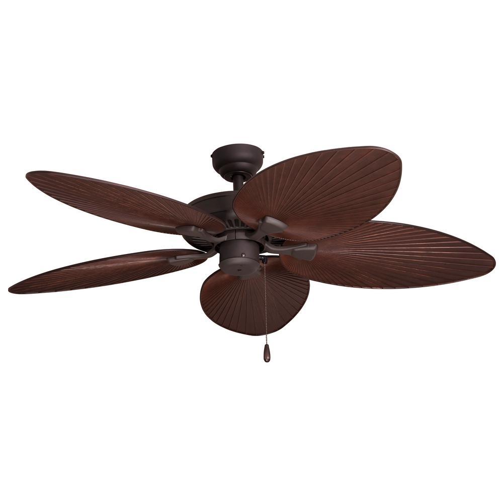 Outdoor Ceiling Fans Home Depot: Sahara Fans Tortola 52 In. Outdoor Bronze Ceiling Fan