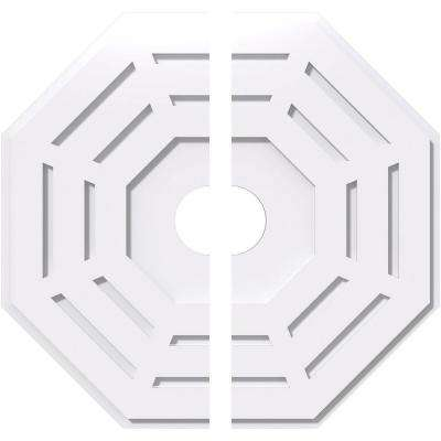 24 in. OD x 4 in. ID x 1 in. P Westin Architectural Grade PVC Contemporary Ceiling Medallion (2-Piece)