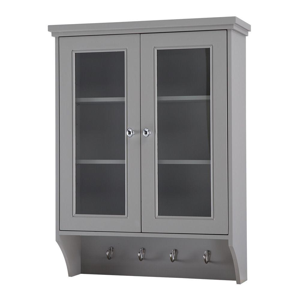 Teagen 25 3/8 in. W Wall Cabinet in Vintage Grey