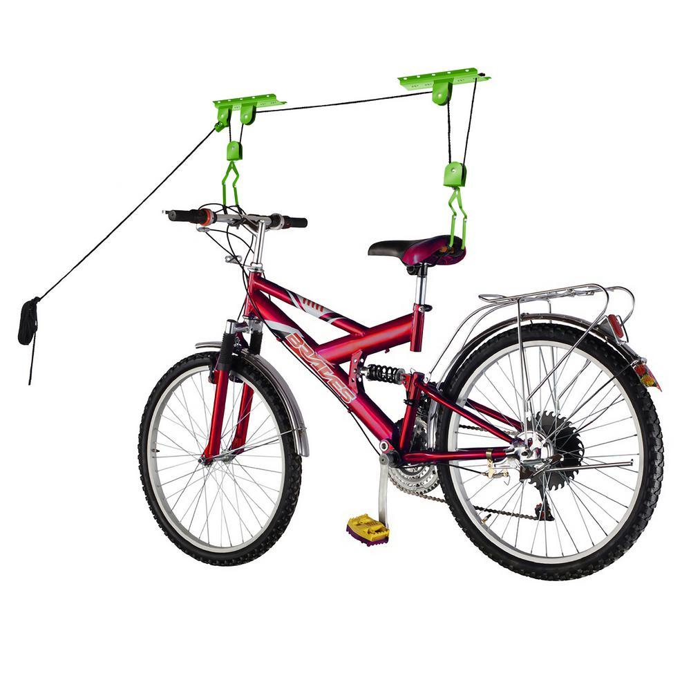 bike lane heavy duty bicycle garage storage lift hoist hwd630000 the home depot. Black Bedroom Furniture Sets. Home Design Ideas