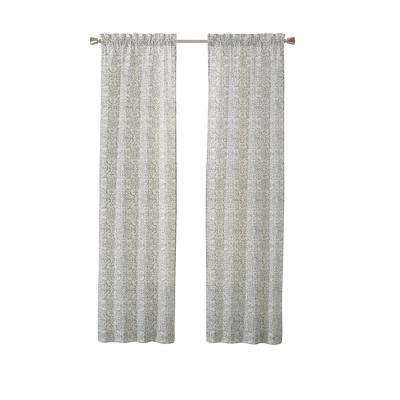 Brockwell Window Curtain Panels in Spa - 56 in. W x 84 in. L (2-Pack)