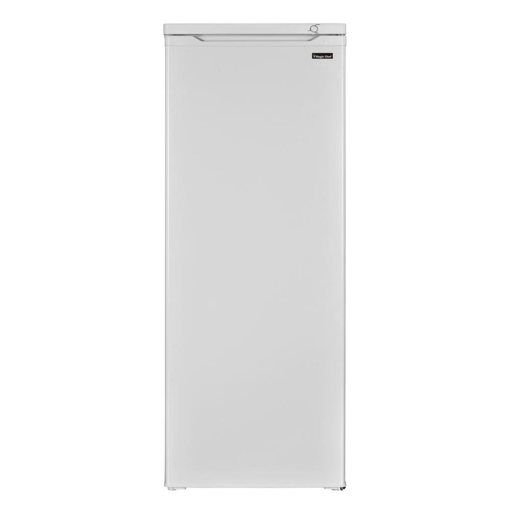 Magic Chef 5 8 Cu Ft Upright Freezer In White Hmuf6we The Home Depot