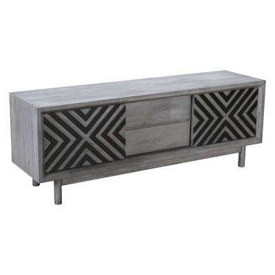 Raven Old Gray TV Stand