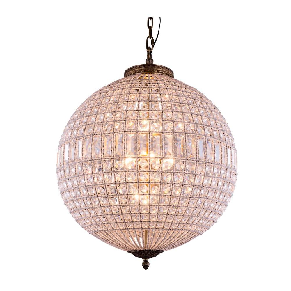Elegant Lighting Olivia 5 Light French Gold Chandelier With Clear Crystal