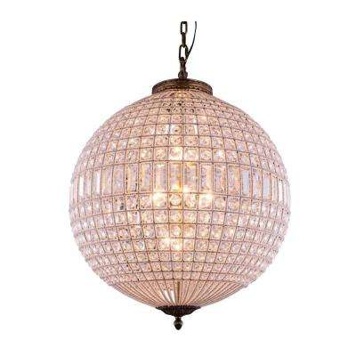 Olivia 5-Light French Gold Chandelier with Clear Crystal