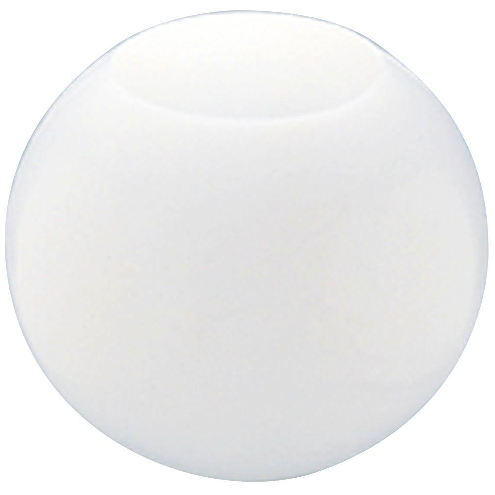 White Acrylic Neckless Globe With 5 1 4 In Top