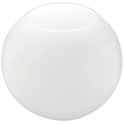 12 in. White Acrylic Neckless Globe with 5-1/4 in. Top Opening