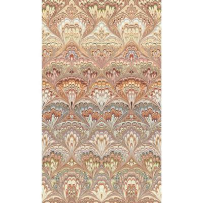57.8 sq. ft. Taichung Orange Ogee Wallpaper