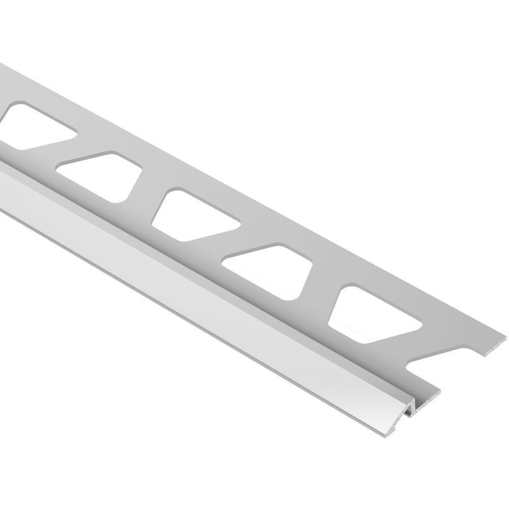 Reno-U Satin Anodized Aluminum 3/8 in. x 8 ft. 2-1/2 in. Metal Reducer Tile Edging Trim