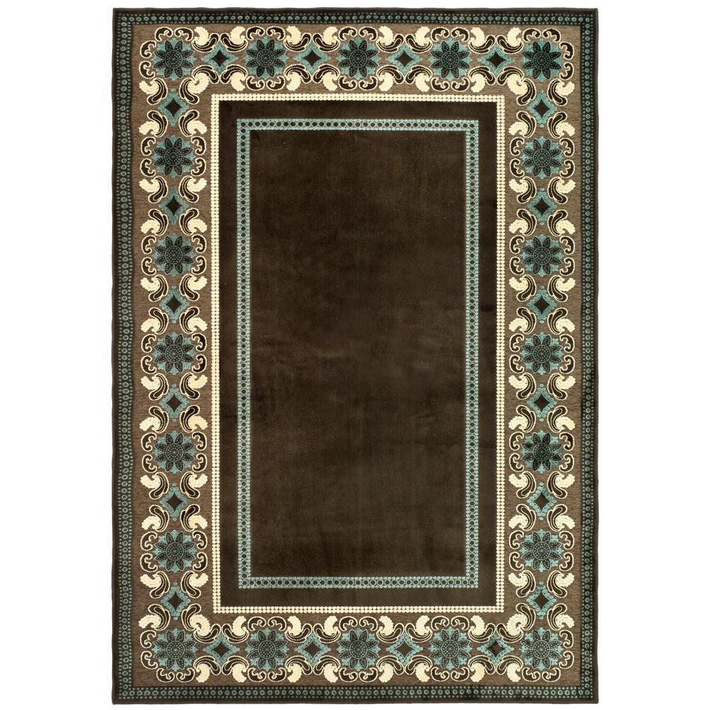 Martha stewart living taj mahal light brown 5 ft 3 in x for Martha stewart rugs home decorators