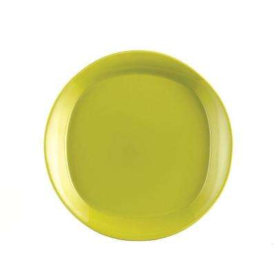 Round and Square 4-Piece Salad Plate Set in Green Apple