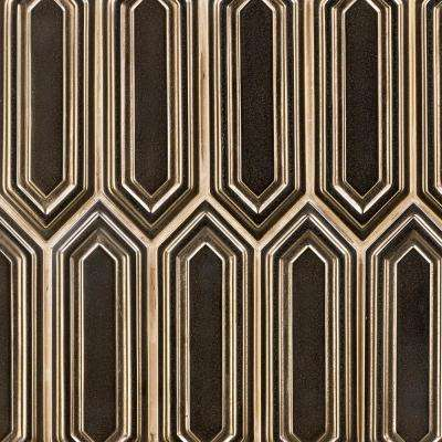 Oracle Copper Hexagon 9-1/2 in. x 15-1/2 in. 14 mm Glazed Ceramic Mosaic Tile  (1.02 sq. ft.)