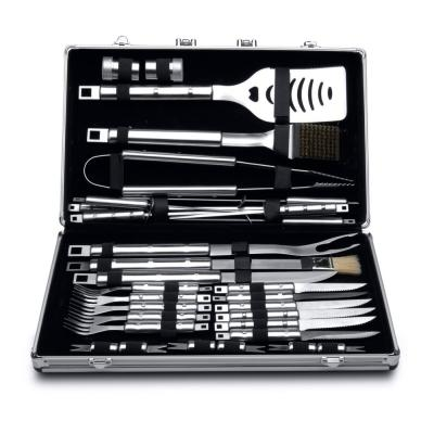 Cubo Essentials 33-Piece Stainless Steel BBQ Set with Case