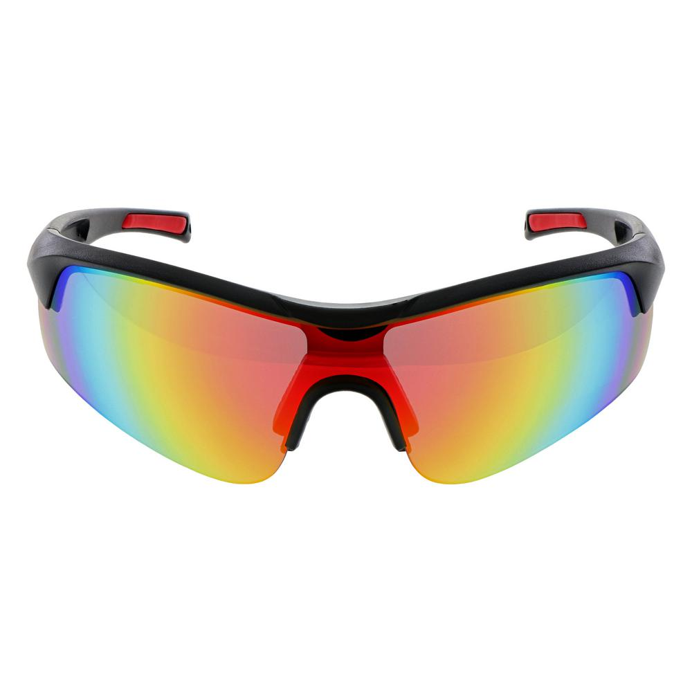 Unbranded Performance Red Full View Mirrored Safety Eye Wear