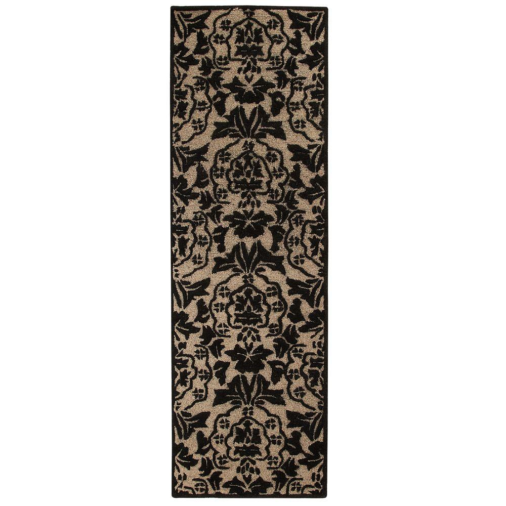 Home Decorators Collection Amberley Beige and Black 2 ft. 6 in. x 10 ft. Runner