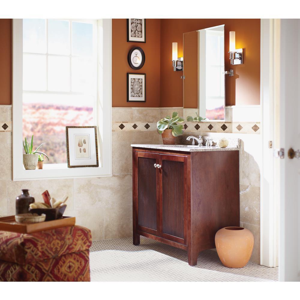 Noche Chiaro Copper Scudo Listello 4 in. x 12 in. Textured Travertine Metal Floor and Wall Tile (1 ln. ft.)