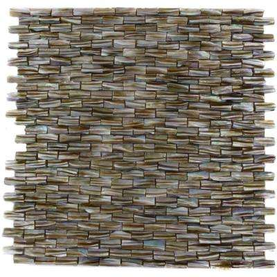 Baroque Pearl 3D Brick Pattern 12 in. x 12 in. x 2 mm Pearl Glass Mosaic Tile