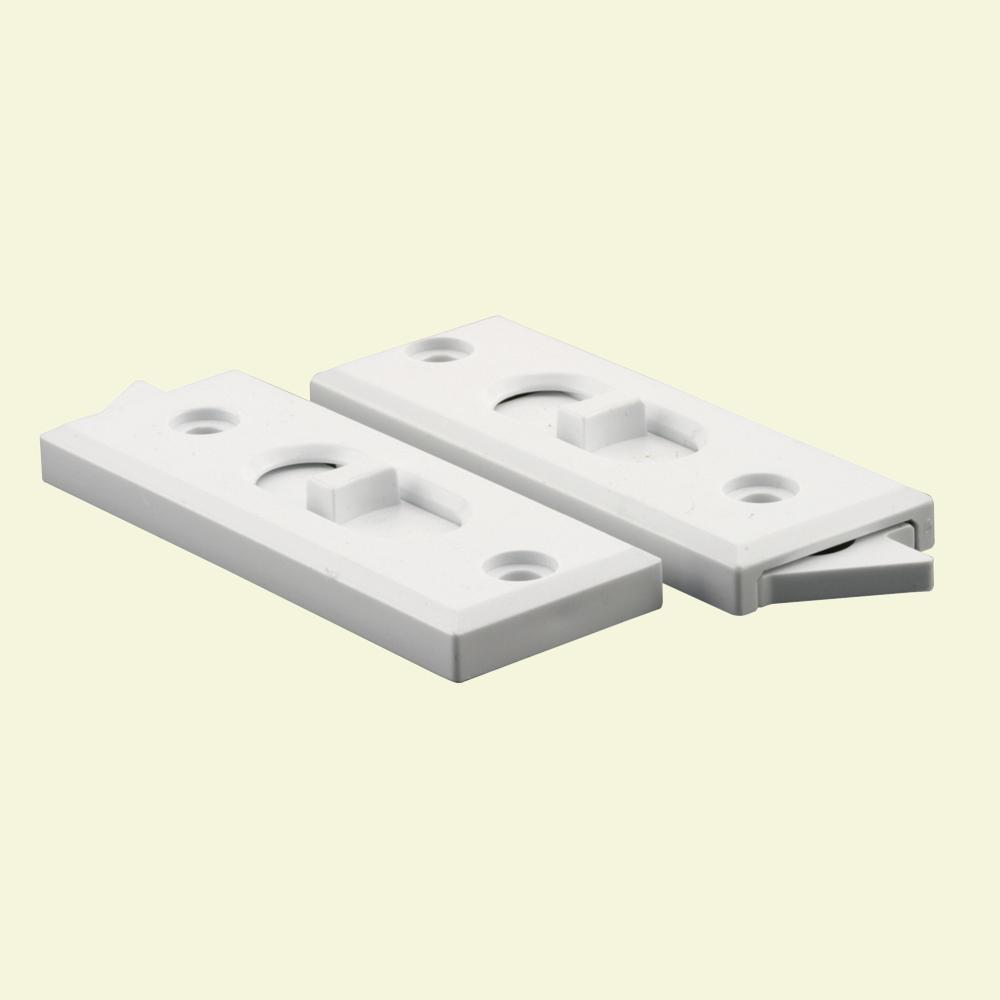 Prime-Line White Plastic Tilt Latch (2-Pack)