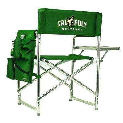 Cal Poly Hunter Green Sports Chair with Digital Logo