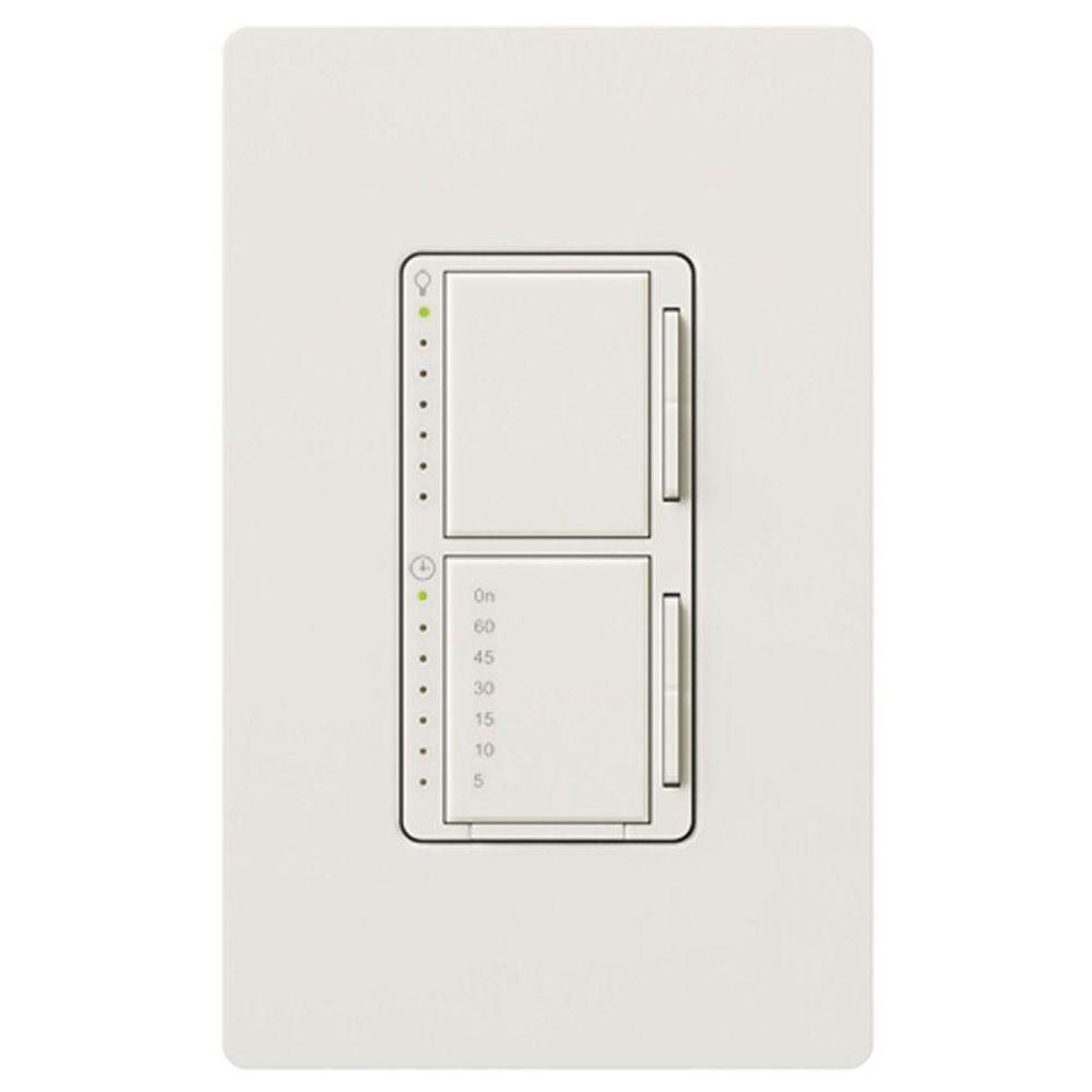 Lutron Maestro 300 Watt Single Pole Digital Dimmer And Timer Switch White