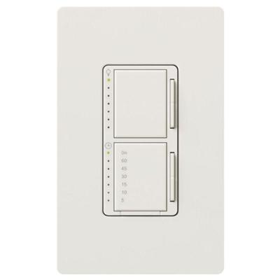 Maestro 300-Watt Single-Pole Digital Dimmer and Timer Switch - White