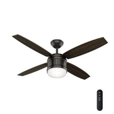 Seahaven 52 in. LED Outdoor Noble Bronze Ceiling Fan