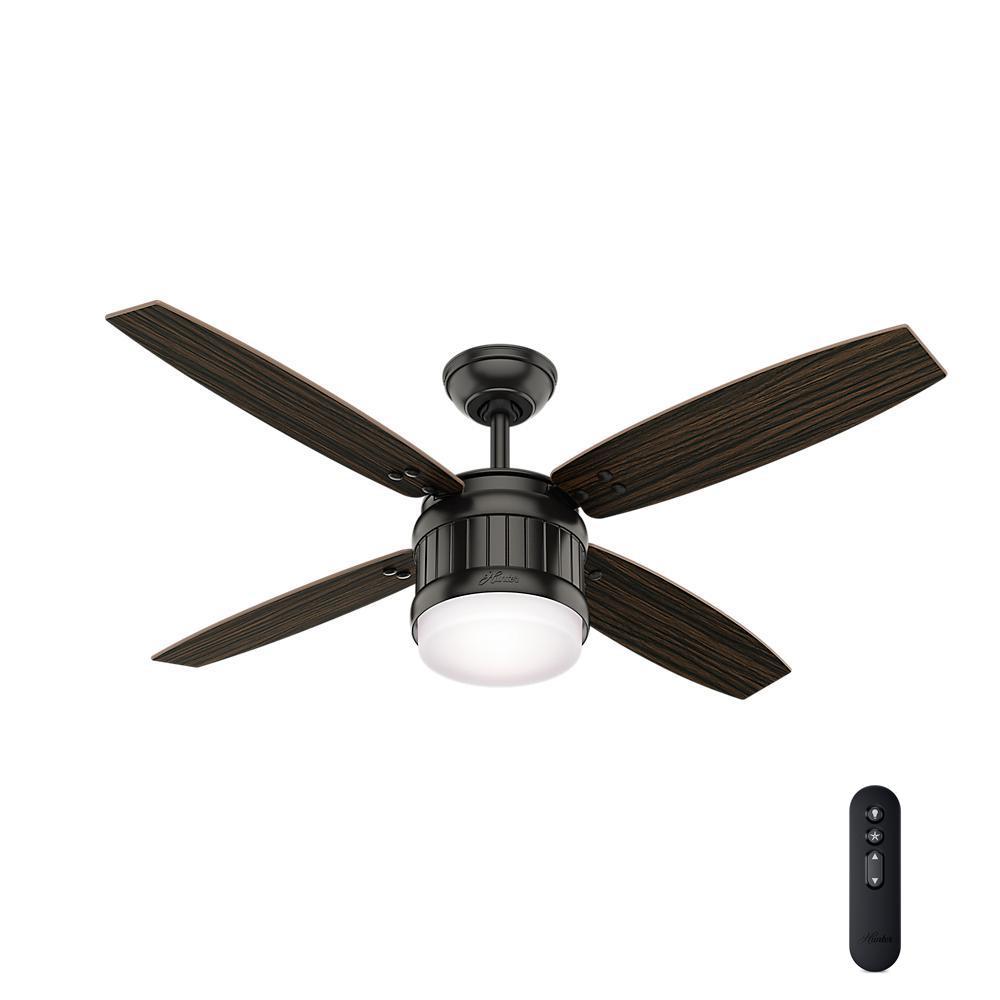Hunter Seahaven 52 In. LED Indoor/Outdoor Noble Bronze