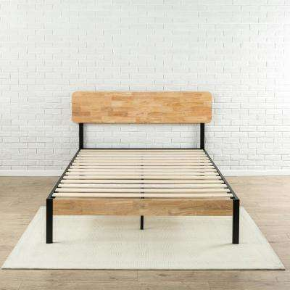 Tuscan Metal and Wood Black Twin Platform Bed