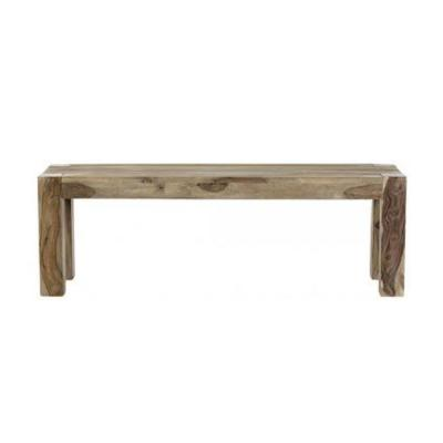 Edmund Smoke Grey Wood Dining Bench