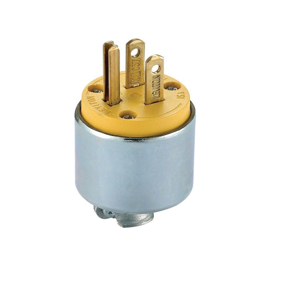 15 Amp 125-Volt 3-Way Straight Blade Grounding Plug