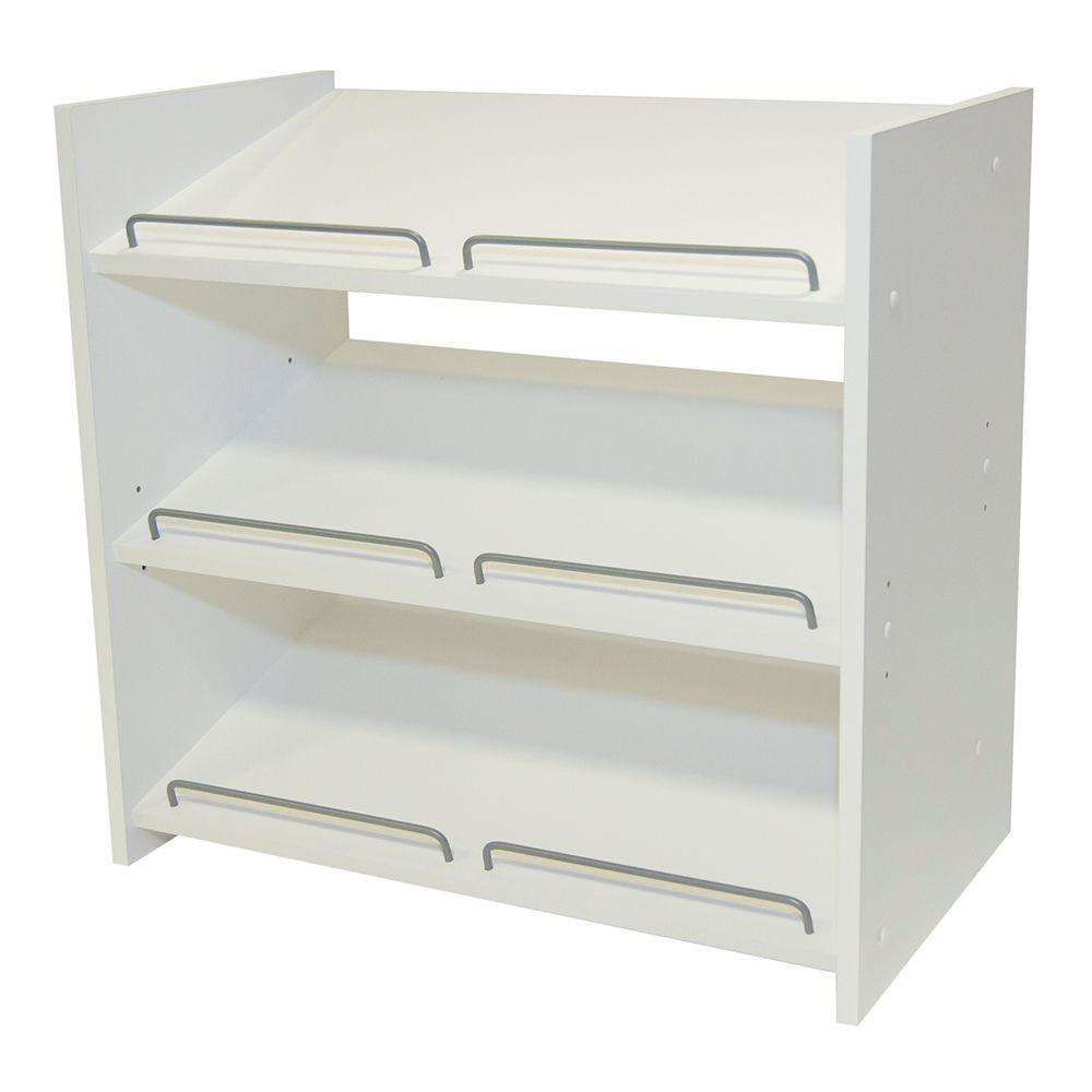white shoe rack Martha Stewart Living Stackable 24 in. H x 25 in. W Espresso Shoe  white shoe rack