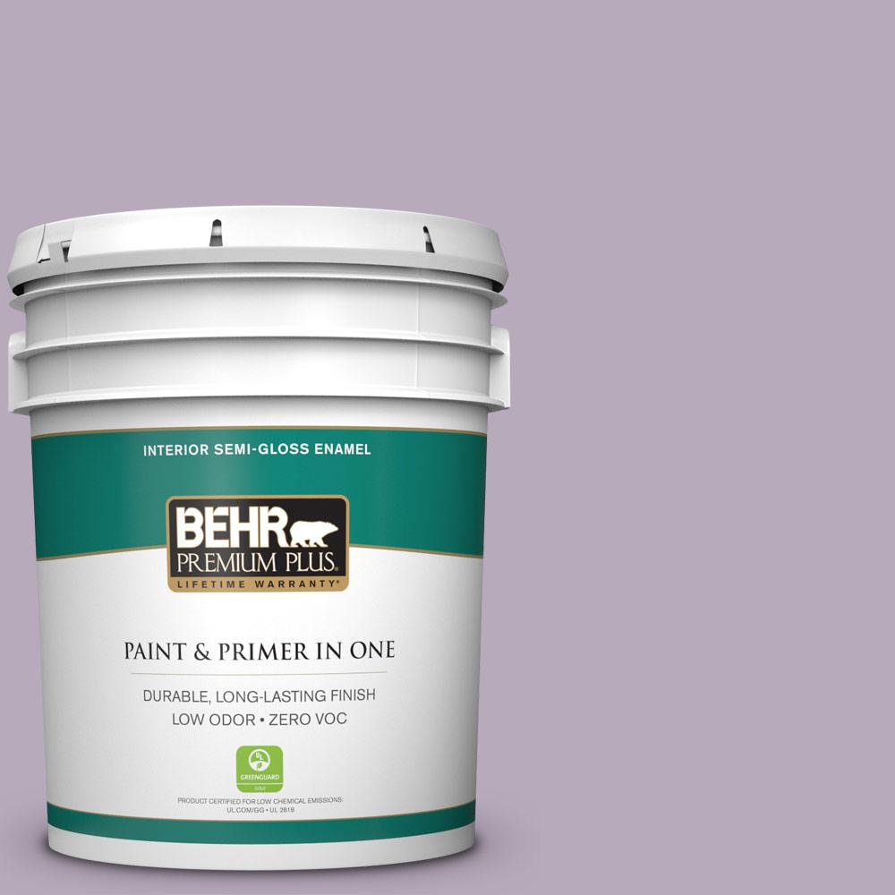5-gal. #HDC-SP14-12 Exclusive Violet Zero VOC Semi-Gloss Enamel Interior Paint
