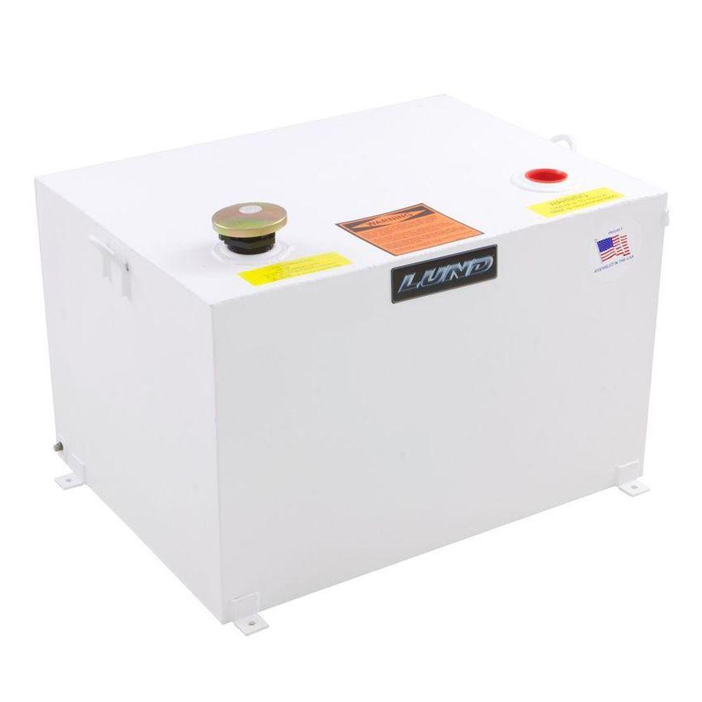 98 Gal. Steel Rectangular Liquid Storage Tank, White