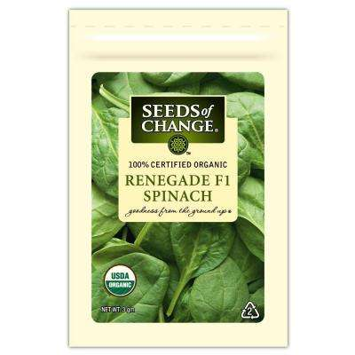 Organic Spinach Renegade F-1 Seed