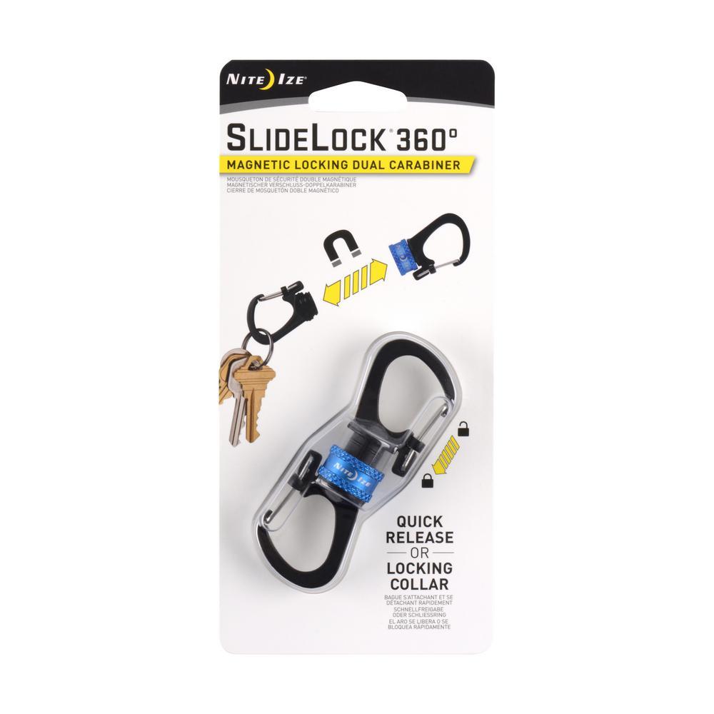 SlideLock 360-Degree Magnetic Locking Dual Carabiner