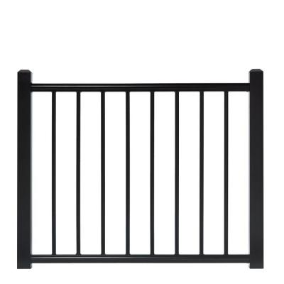 4 ft. x 3 ft. Adjustable Black Aluminum Deck Gate