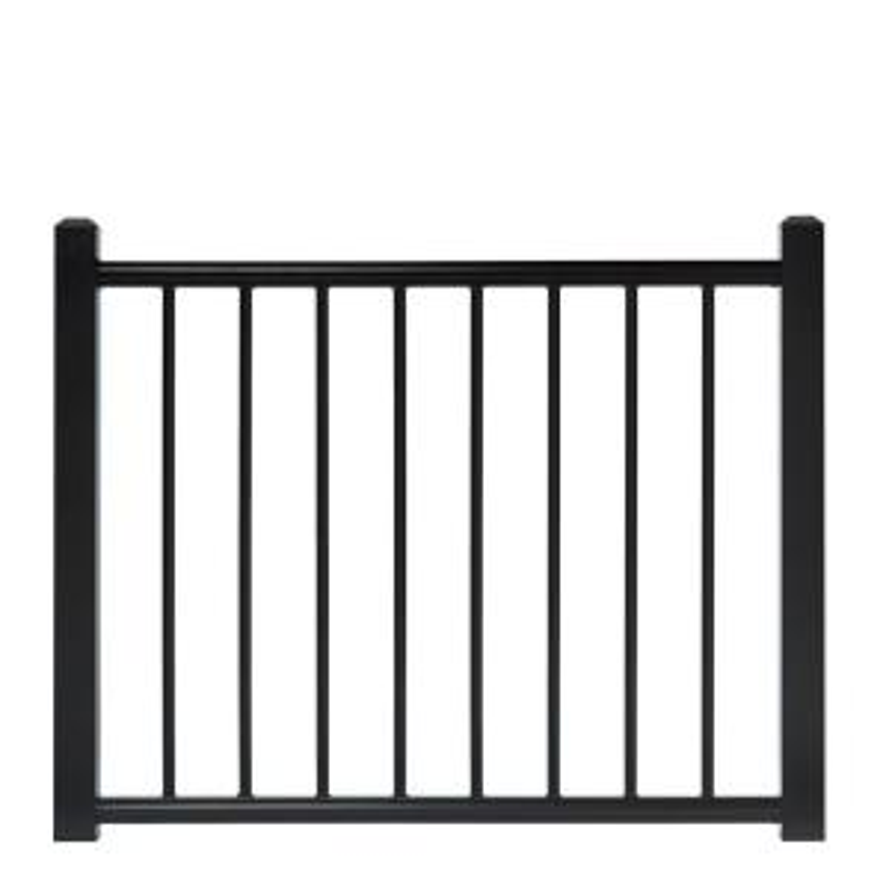 adjustable black aluminum deck gate238352 the home depot