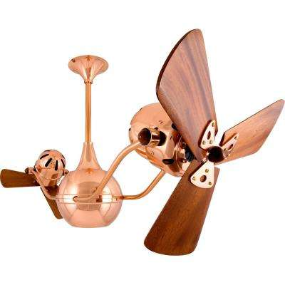 Vent Bettina 44 In. Indoor/Outdoor Polished Copper Ceiling Fan ...