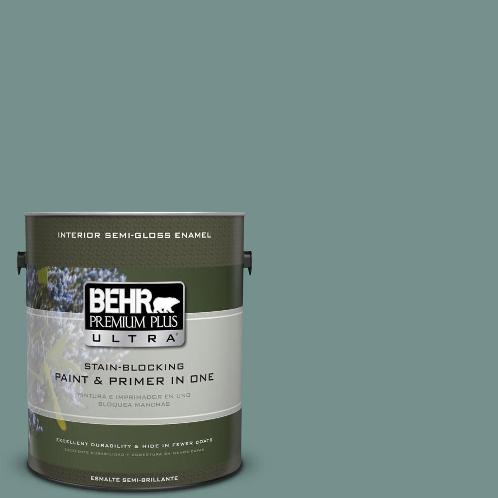 1 gal. #PPU12-3 Dragonfly Semi-Gloss Enamel Interior Paint and Primer in