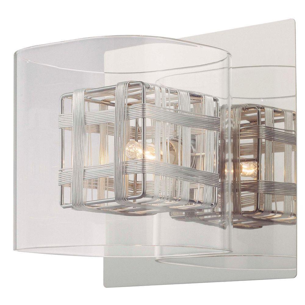 Jewel Box 1-Light Chrome Sconce