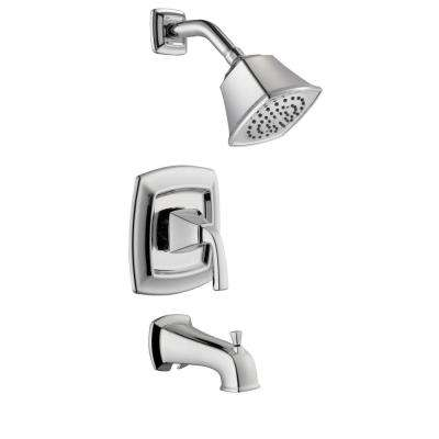 Mason 1-Handle 1-Spray Tub and Shower Faucet in Chrome (Valve Included)
