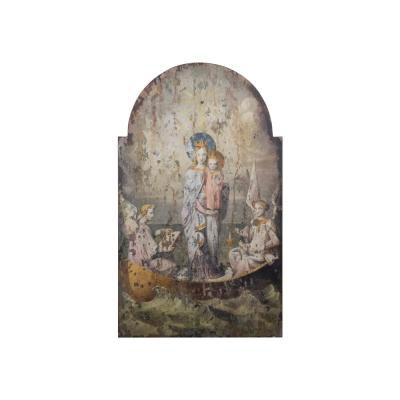 Vintage Mary & Angels Wood Wall Art