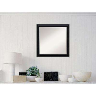 Nero Black Wood 23 in. W x 23 in. H Contemporary Framed Mirror
