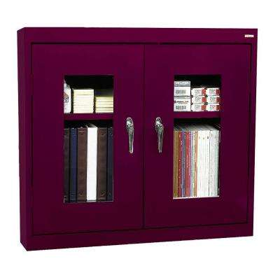 30 in. H x 36 in. W x 12 in. D Clear View Wall Cabinet in Burgundy